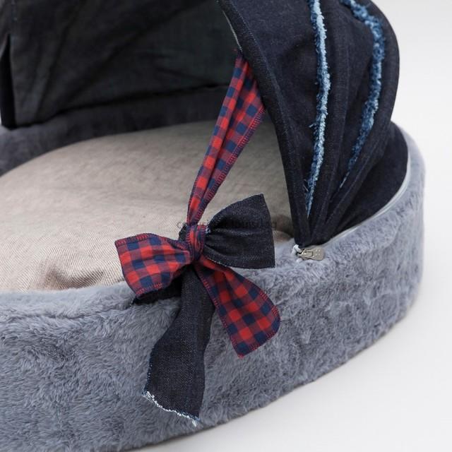 Louisdog(ルイスドッグ)犬用ベッド Denim Cradle Dark Blue デニム クレイドル ダーク ブルー