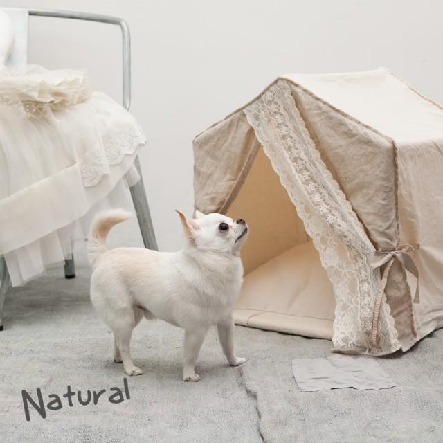 Louisdog(ルイスドッグ)犬用ベッド Peekaboo/Linen Secret Natural Petit ピーカブ リネン シークレット ナチュラル