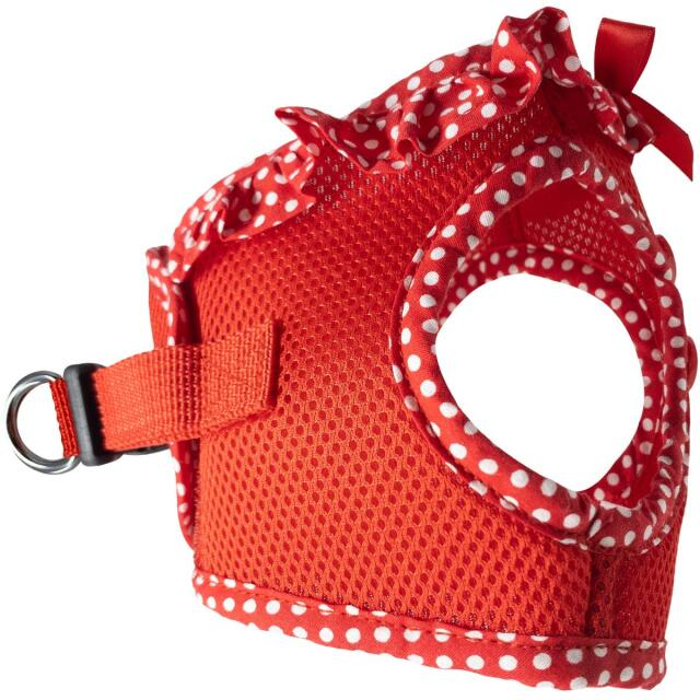 Doggie Design(ドギーデザイン)ハーネス American River Harness Red Polka Dot アメリカン リバー ハーネス レッド ポルカドット