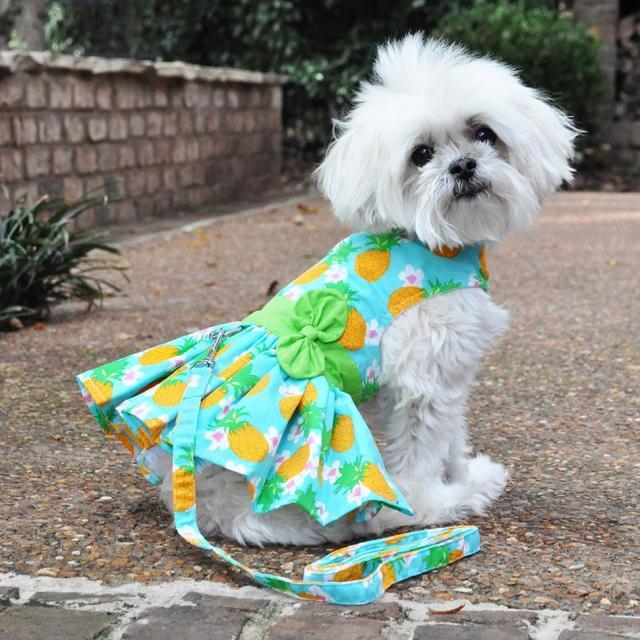 Doggie Design(ドギーデザイン)Pineapple Luau Dog Harness Dress パイナップル ルアウ ドレス