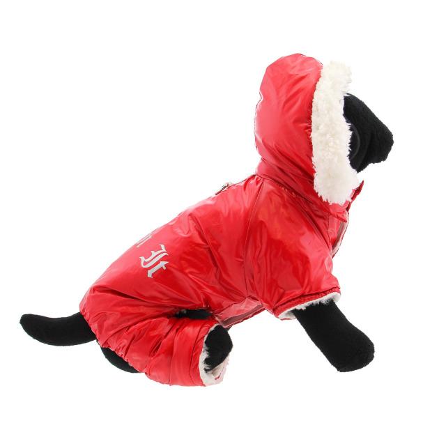 Doggie Design(ドギーデザイン)ドッグウェア Red Ruffin It Dog Snow Suit Harness レッド ラフィン スノー スーツ