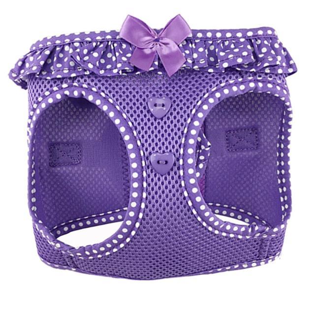Doggie Design(ドギーデザイン)American River Harness Paisley Purple Polka Dot アメリカン リバー ハーネス パープル ポルカドット